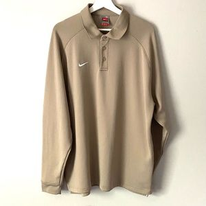 Nike Fit Dri collared button long sleeve XL